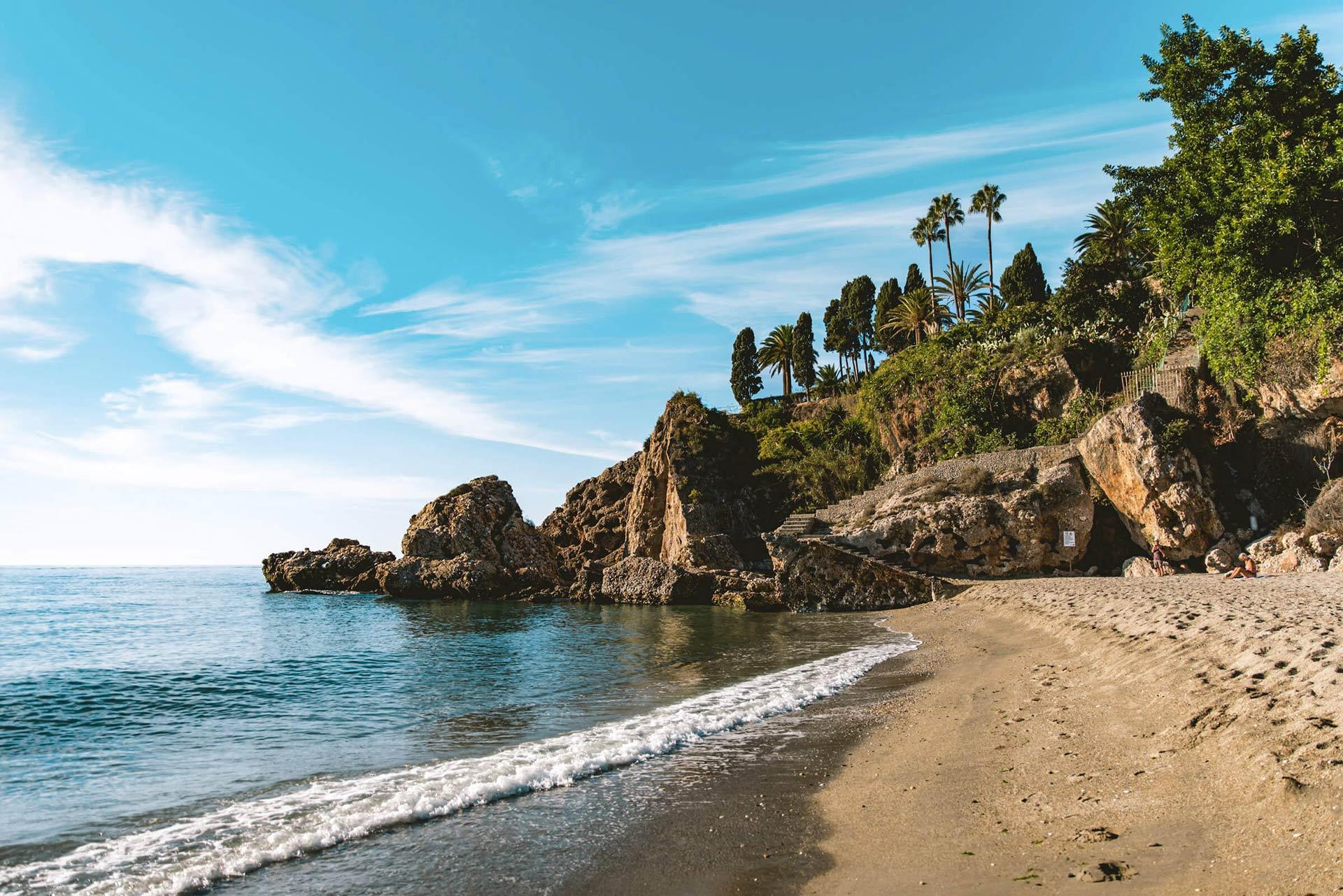 Playa de Nerja en Málaga